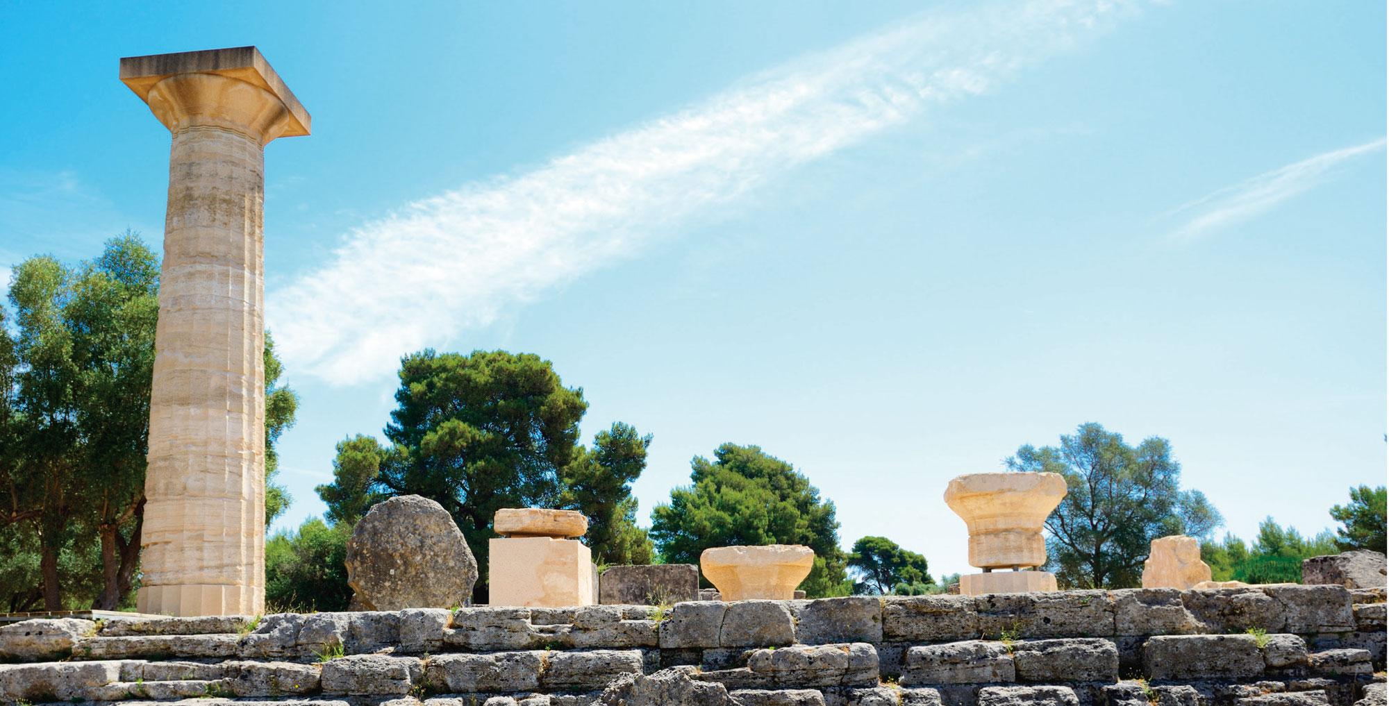 古希臘奧林匹亞遺址。
