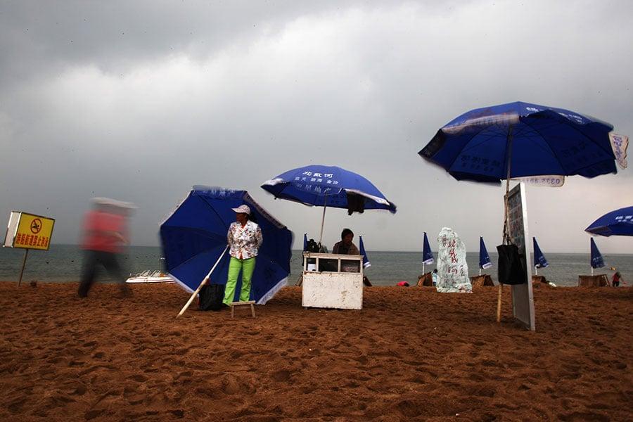 每年的夏天,中共的退休和現任高層都會聚集到北戴河開會。(Guang Niu/Getty Images)