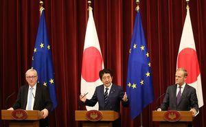 歐盟和日本簽署歷史性自貿協定