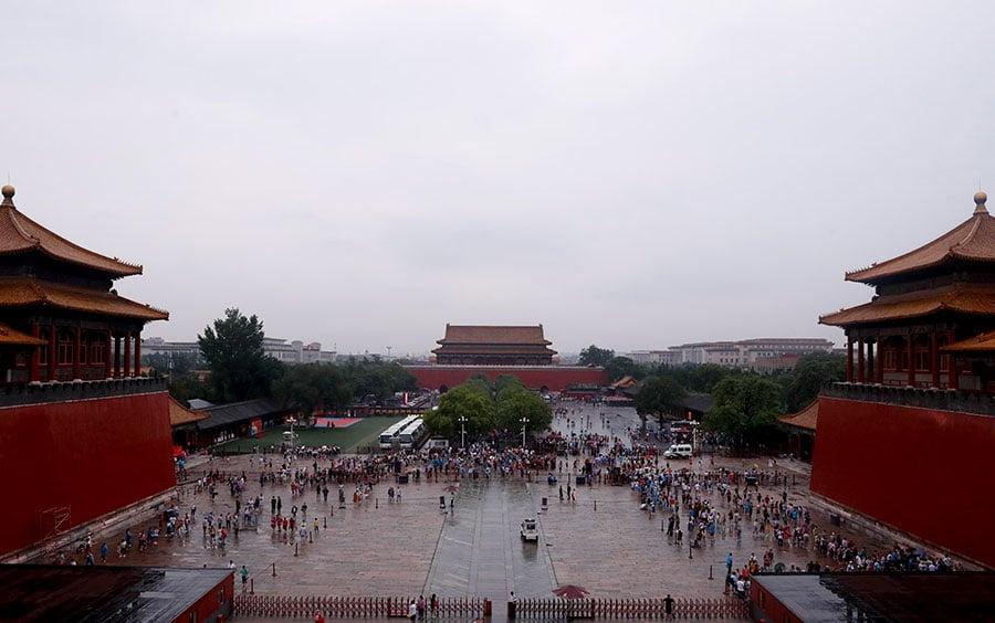 北京暴雨多地變澤國 故宮內卻無積水