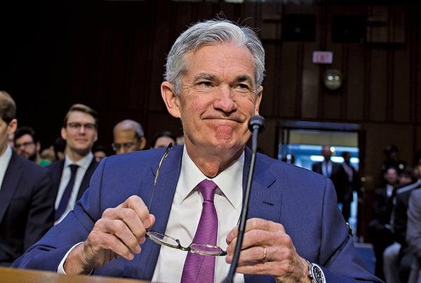 聯準會主席鮑威爾(Jerome Powell)表示,貿易戰還不足以讓聯準會改變加息路徑。(AFP)