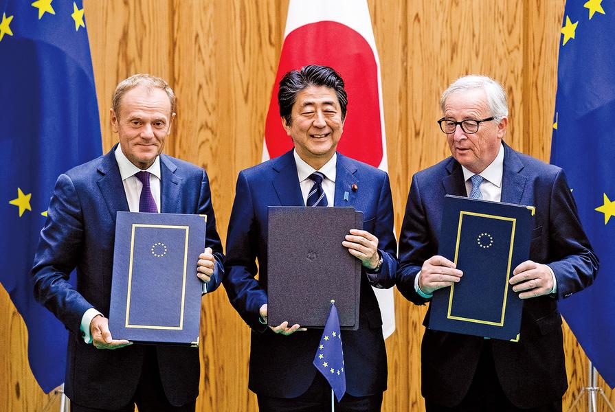歐日簽署歷史性自貿協定