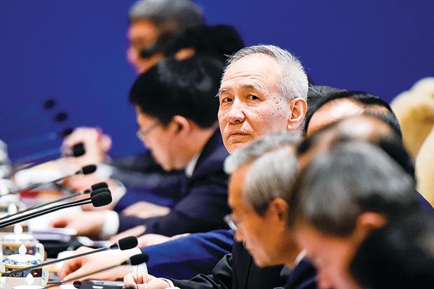 主導美中貿易談判的劉鶴基本處於「隱身」狀態。(AFP)