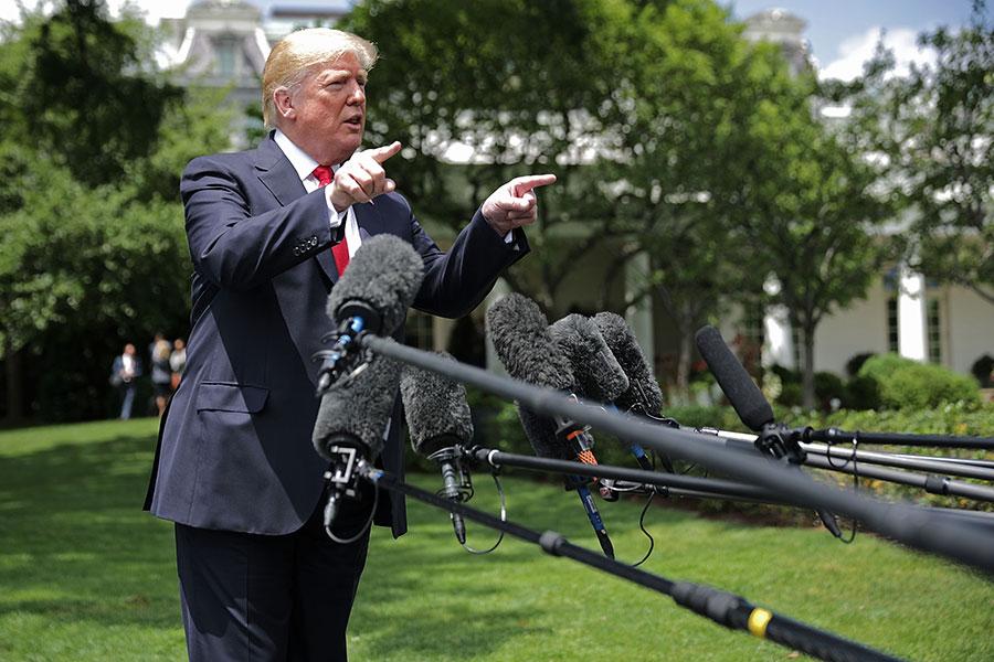 特朗普致力恢復美國傳統價值,遭到泛左派媒體頻頻攻擊。(Chip Somodevilla/Getty Images)