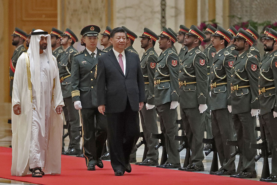 7月20日,習近平訪問阿聯酋。(KARIM SAHIB/AFP/Getty Images)