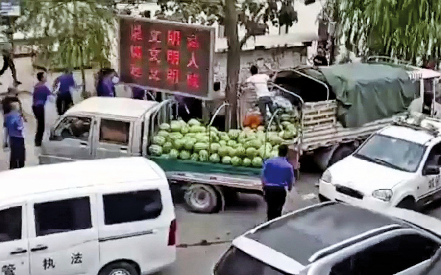 甘肅瓜農怒捅城管 現場民眾披露前因後果