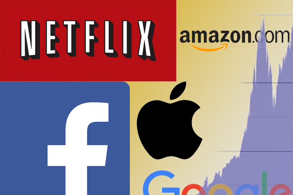 由臉書、蘋果公司、亞馬遜、奈飛網和谷歌母公司Alphabet組成的FAANG成為今年熱門科技概念股。(YouTube網站)
