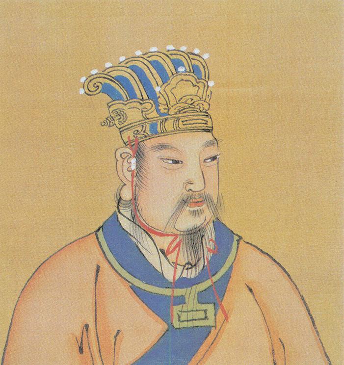 紂王將西伯姬昌關在羑里。圖為西伯姬昌彩像,明人繪。(公有領域)