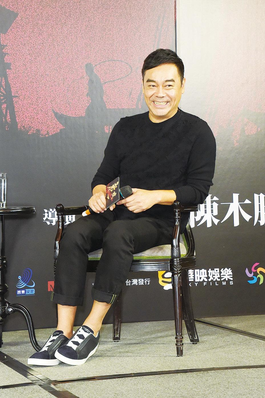 劉青雲搞笑說,像《廉政風雲 煙幕》這種深層次的戲很適合他演。(黃宗茂/大紀元資料照片)