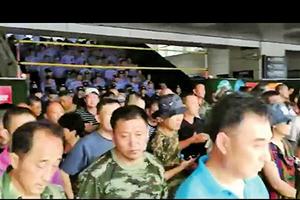 山東老兵集體進京維權 被困煙台火車站