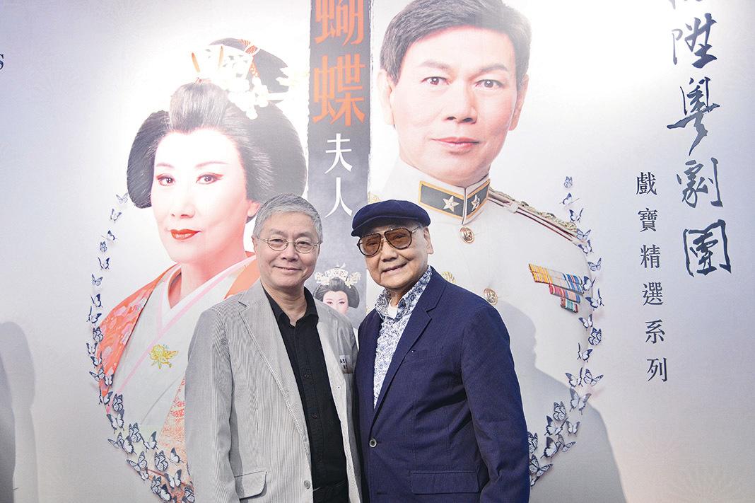 阮兆輝(左)及尤聲普(右)將於八月再度上演粵劇《文姬歸漢》。