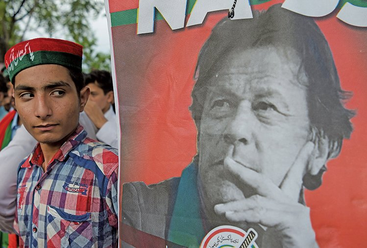 前板球明星伊姆蘭汗(Imran Khan)贏得巴基斯坦大選。(AFP)