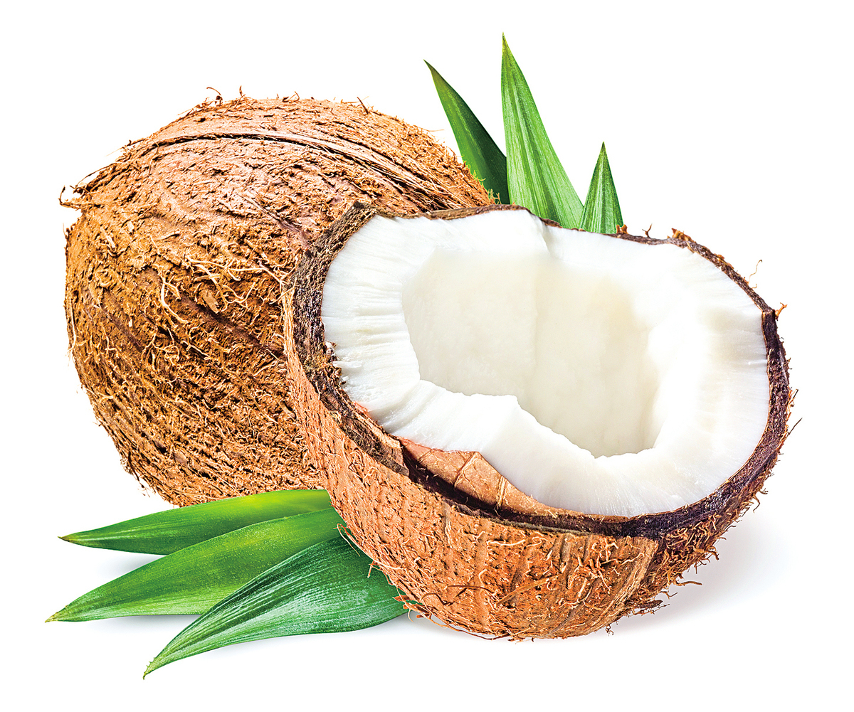 在一顆椰子中,椰子水和椰肉都有很高的營養價值。