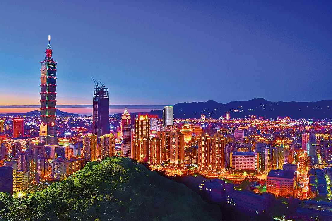 台北101夜景(公有領域)