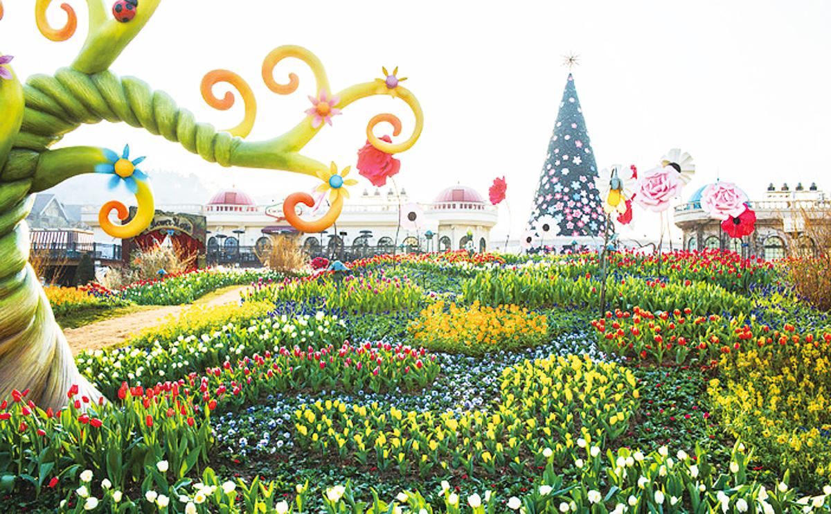 愛寶樂園的四季庭園和玫瑰園。