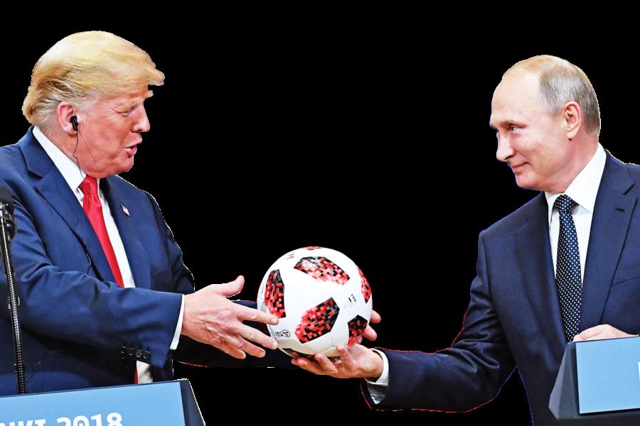 普京送特朗普的足球內藏晶片