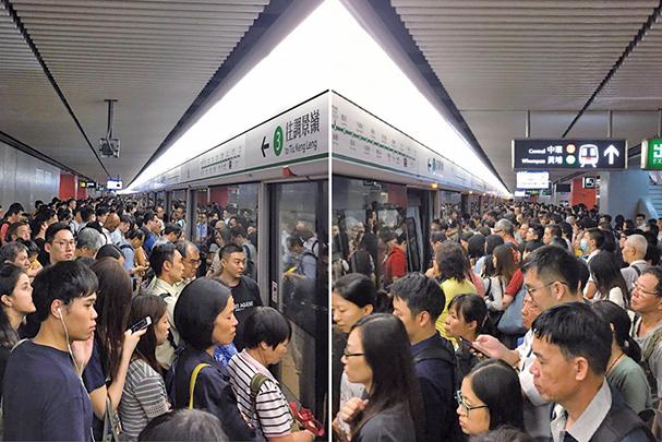 科技大學一項研究指出,港鐵列車打開車門時,門邊的污染物微細懸浮粒子PM2.5濃度會突然飆升,對健康有影響。(盛益清/大紀元)