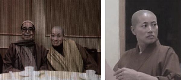 寶蓮寺住持兼香港佛教聯合會會長釋智慧(左)與定慧寺女住持釋智定(右)捲入大陸和尚與香港尼姑假結婚事件。釋智定是釋智慧的弟子,兩名藉假結婚來港的和尚皆在寶蓮寺任職。(大紀元)