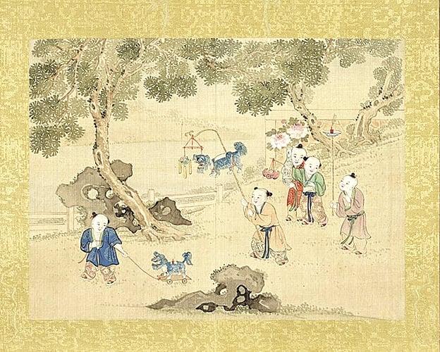 清佚名《歡洽寰區冊》之花燈會,台北國立故宮博物院藏(公有領域)