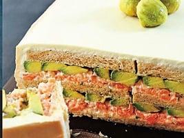 燻鮭塔塔醬&牛油果三文治蛋糕