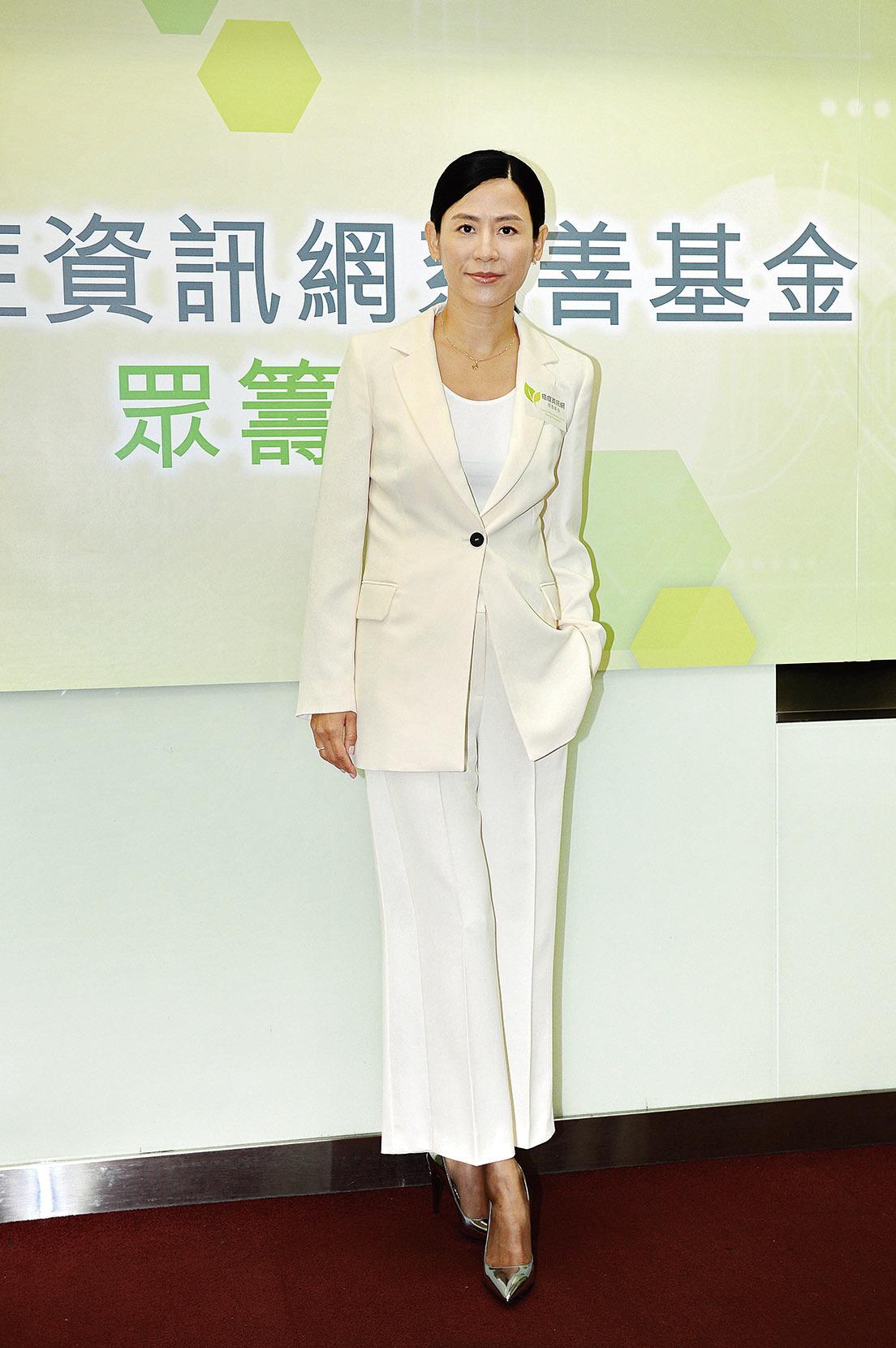 宣萱昨天出席癌症慈善基金記者會表示獲益良多。(宋碧龍/大紀元)