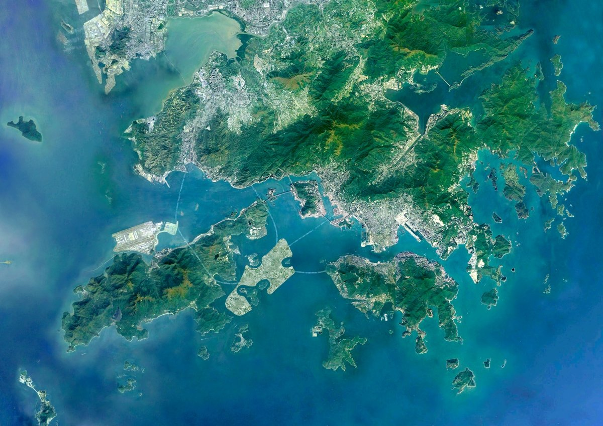 團結香港基金提出「強化版」東大嶼都會方案,建議填海建造大約2,200公頃的人工島,配合大灣區一小時生活圈。環保觸覺義務總幹事譚凱邦質疑有關建議是政治任務。(團結香港基金提供)