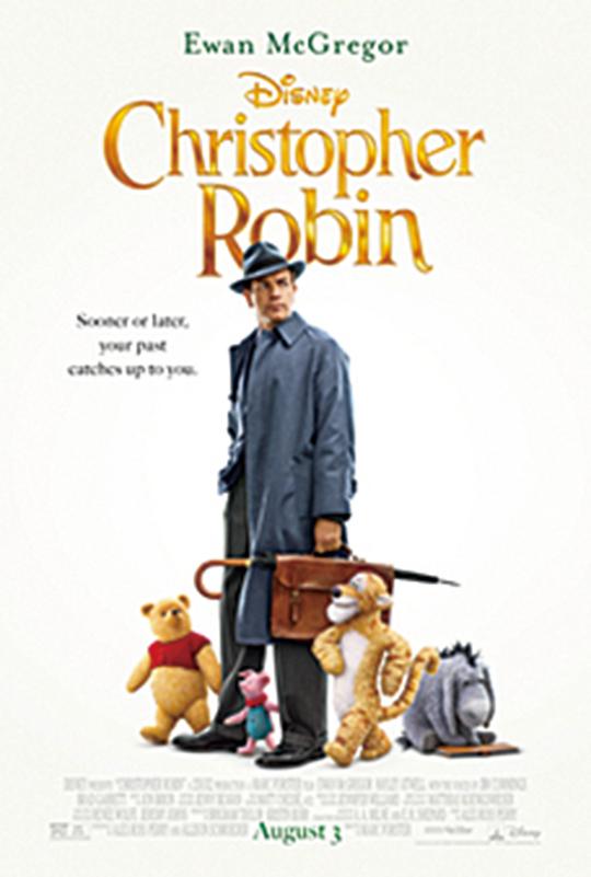 圖為美國新影片《摯友維尼》(Christopher Robin)的電影廣告。(維基百科)