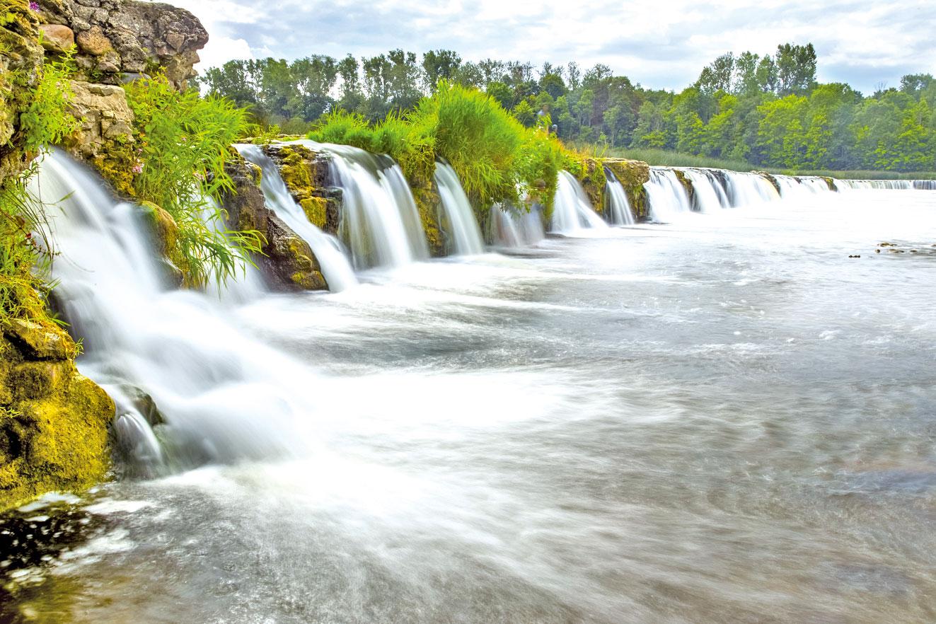 拉脫維亞的聞沓瀑布。(Fotolia)