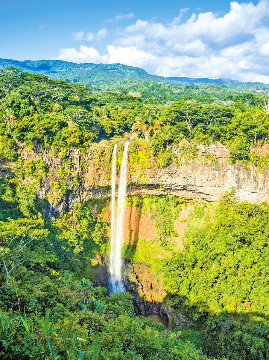 毛里求斯的夏瑪爾瀑布。(Fotolia)