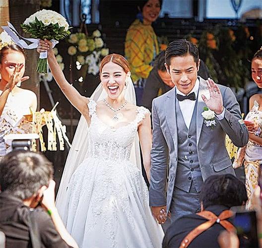 鄭嘉穎、陳凱琳昨日在峇里結婚。(陳凱琳i.g)