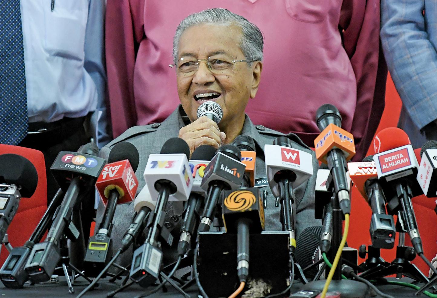 馬來西亞首相馬哈蒂爾(Mahathir Mohamad)將於8月17日至21日對北京進行正式訪問。(AFP)