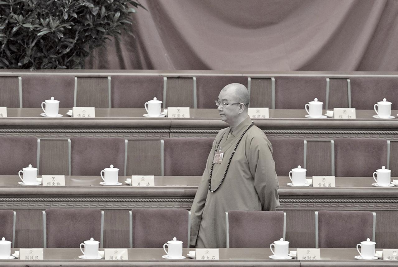 8月15日,中共佛教協會會長、北京龍泉寺方丈釋學誠被官方宣佈下台。(Getty Images)