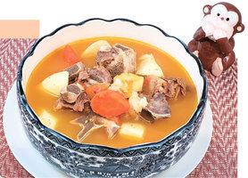 紅蘿蔔淮山番茄牛骨湯