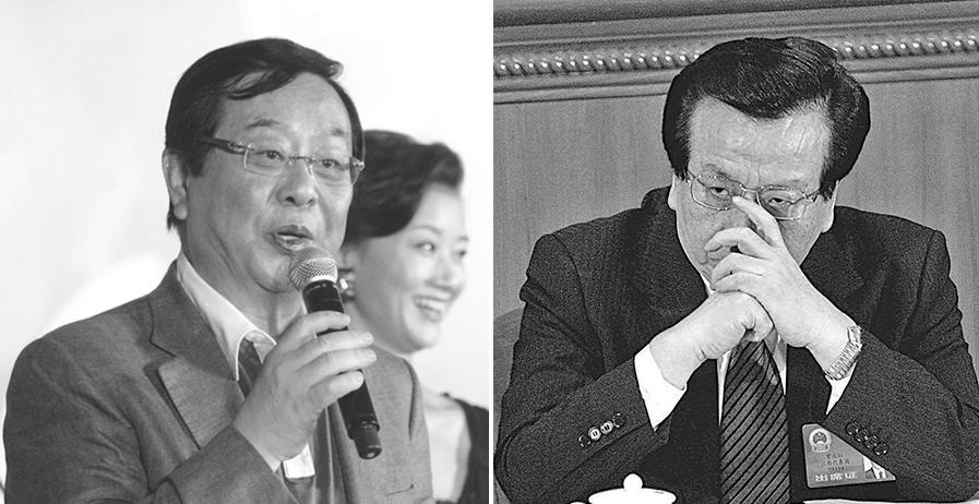 日前,有台媒盤點范冰冰逃稅案牽出的中國娛樂圈背後重重黑幕,並牽涉出曾慶紅(右)的弟弟曾慶淮(左)等人。(大紀元合成圖)