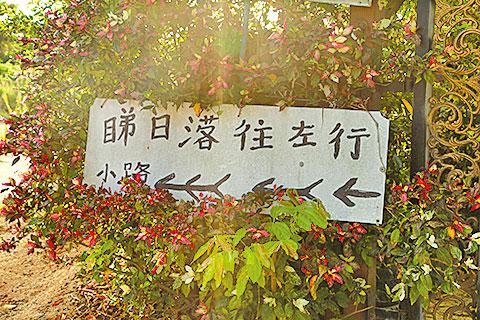 在鴨仔坑旁,有路牌指示如何前往泥灘。
