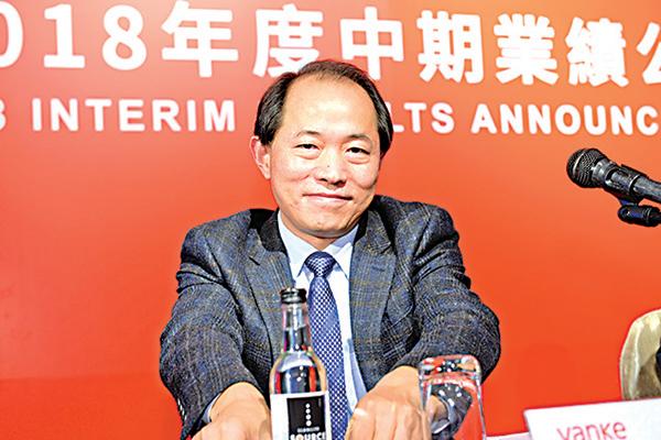 萬科總裁祝九勝(如圖)表示,集團一向不會過度融資,並強調「租賃市場才剛開始」。(宋碧龍/ 大紀元)