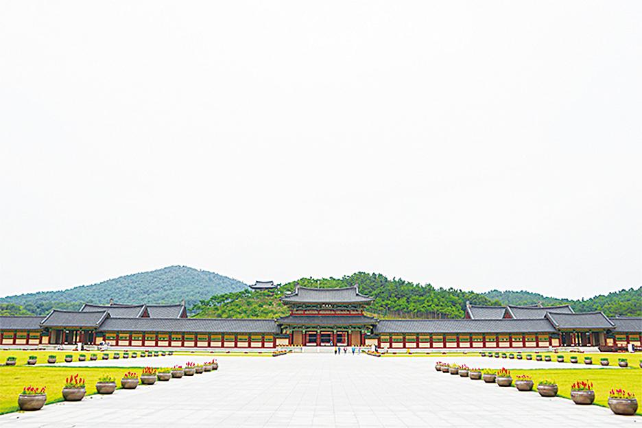 百濟文化園區全景。