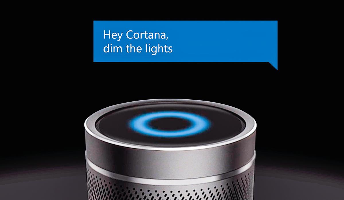 搭載微軟語音助理Cortana的哈曼卡頓智能音箱。(Harman Kardon)