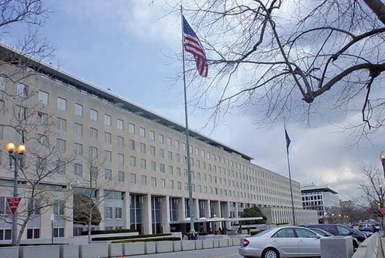 █對於薩爾瓦多與中華民國斷交,美國國務院除表示遺憾,也關切任何決定台灣未來的非和平手段。圖為美國國務院。(大紀元)