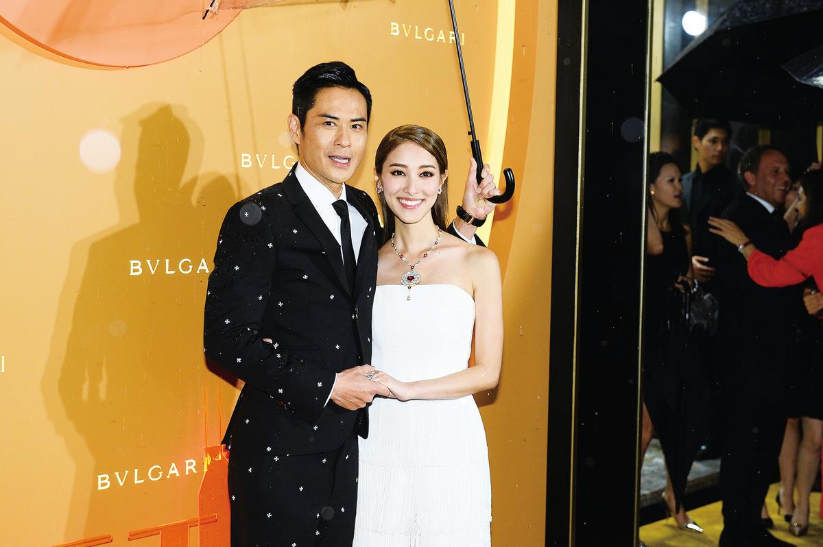 鄭嘉穎與陳凱琳新婚後首次一同參加活動。(宋碧龍/大紀元)