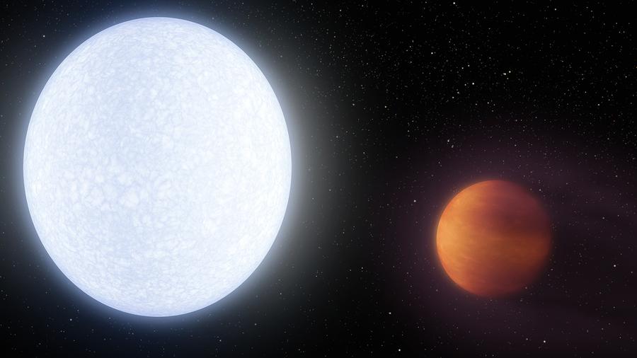 炙熱行星大氣中首現重金屬