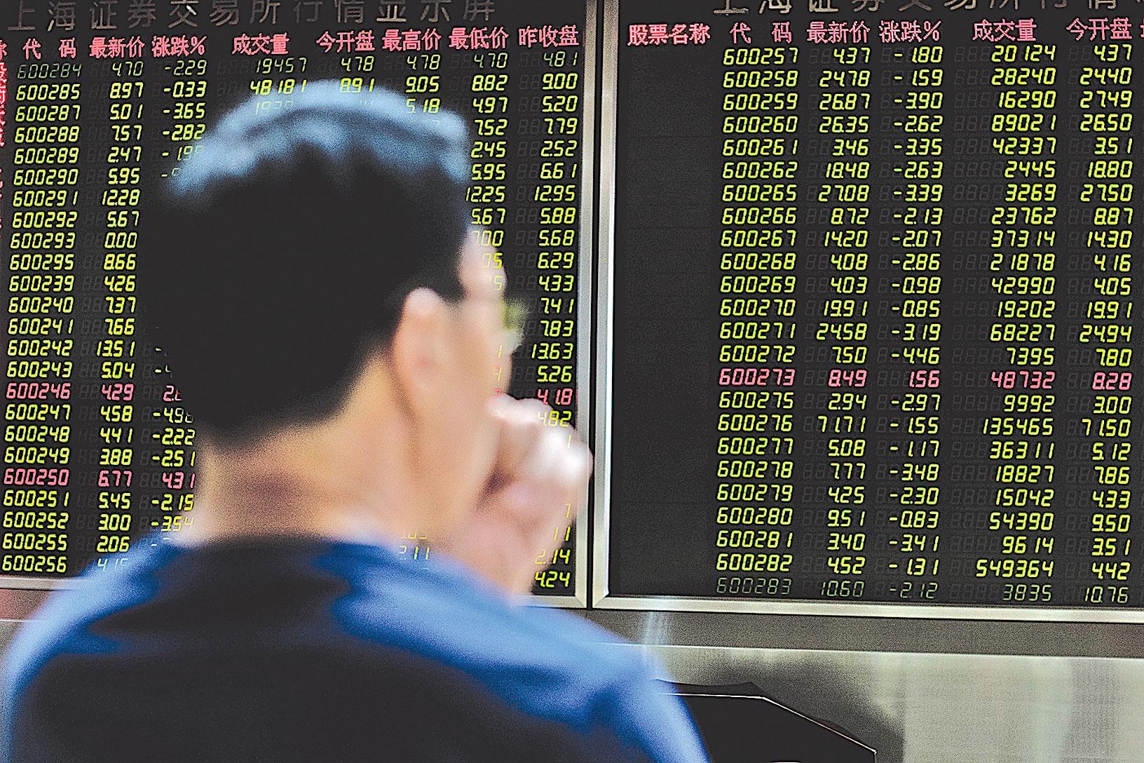 只要中共證監會繼續發行新股的態度未變,中國股市絕不輕言見底。(Getty Images)