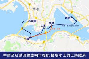 中環至紅磡渡輪或明年復航 擬增水上的士遊維港