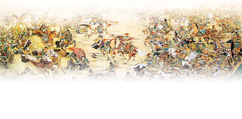 王雙寬作品《氣蓋山河》(局部)