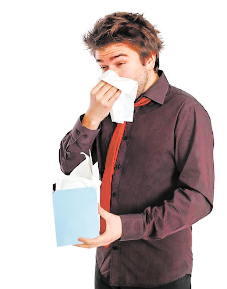 如果鼻腔內鼻涕過多,像洪水一樣氾濫,流到不該去的地方蓄積起來就會得鼻竇炎。(Fotolia)