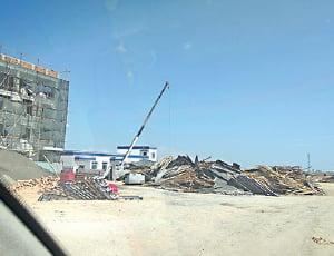 博爾塔拉地區另一處正趕工的再教育中心(受訪者提供)