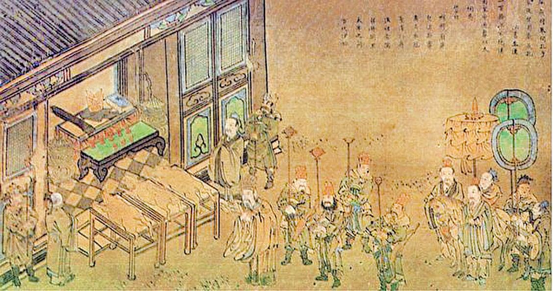 《孔子聖蹟圖》之「漢高祀魯」(公有領域)
