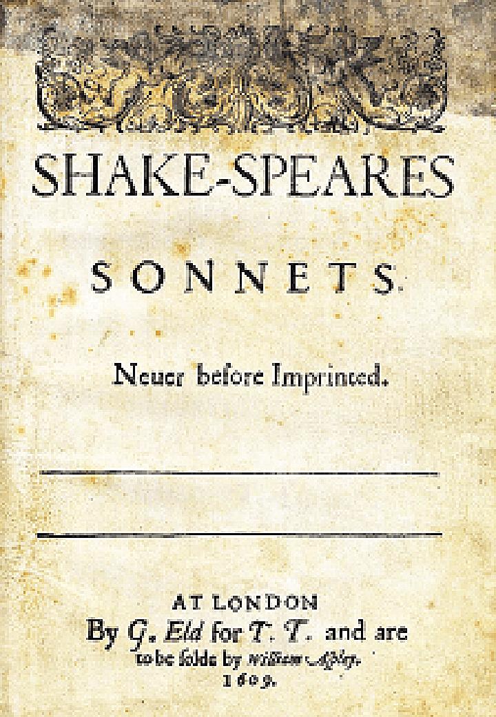 莎士比亞的《十四行詩》(Shakespeare's Sonnets)(維基百科公共領域)