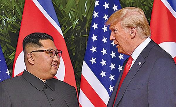 特朗普29日點出中國在北韓問題上攪局,但他與北韓領導人金正恩的關係仍非常良好和睦。(Getty Images)