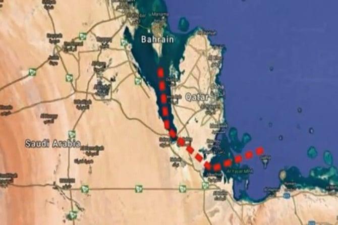 沙特阿拉伯與卡塔爾外交爭端持續一年之際,有消息傳出,沙國正在考慮挖掘一條運河。(影片截圖)